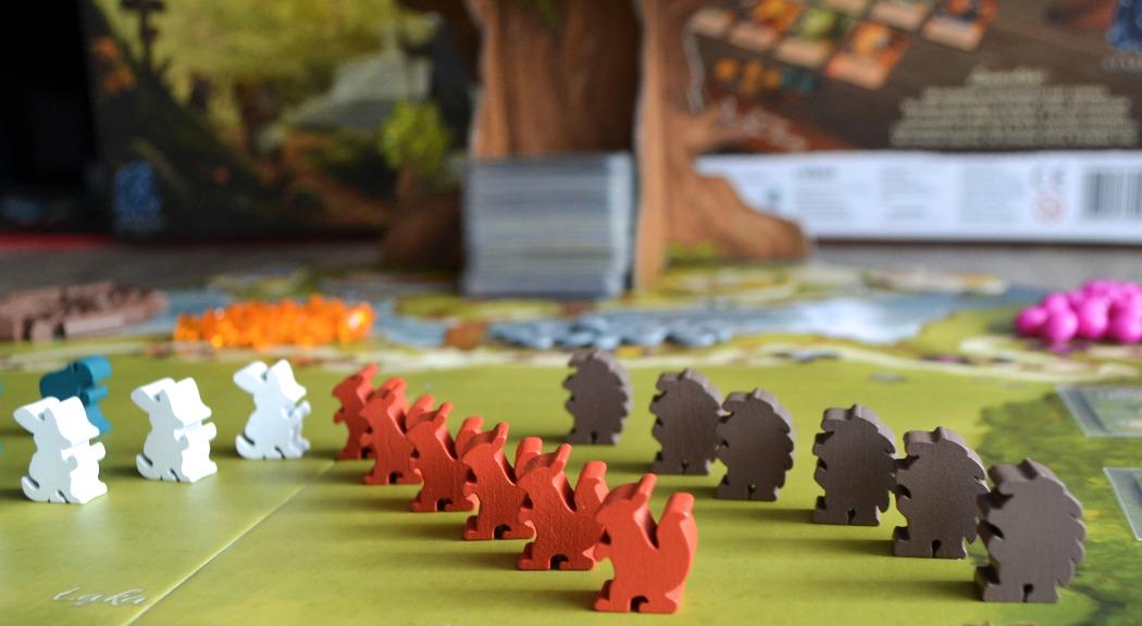 Meple do gry Everdell - wiewiórka, jeż